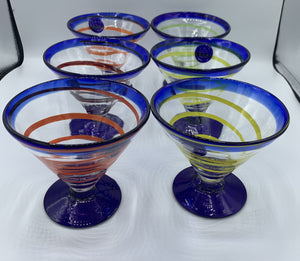 Vintage Kosta Boda Royal Caribbean Martini Glasses
