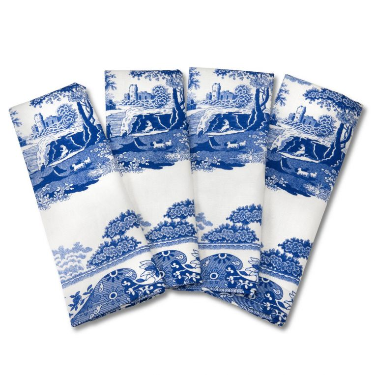 Blue Italian Napkins Set of 4