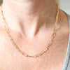 PARPAR</br>10K Yellow Gold Paper Clip Necklace