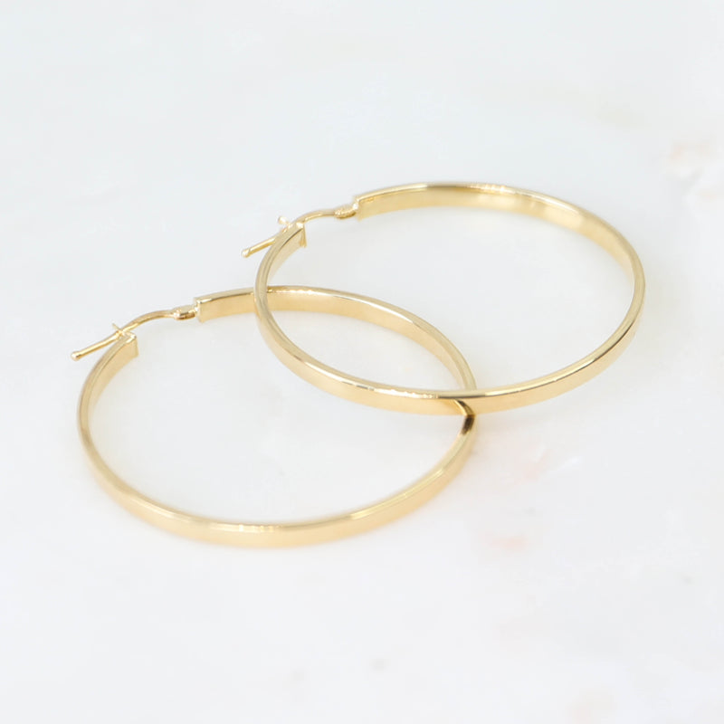 PARPAR</br>10K Yellow Gold Large Hoop Earrings