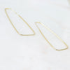 PARPAR</br>10K Yellow Gold 60mm Paper Clip Earrings