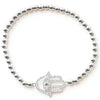 S&C </br>Hamsa Center Eye Stone Stretch Bracelet