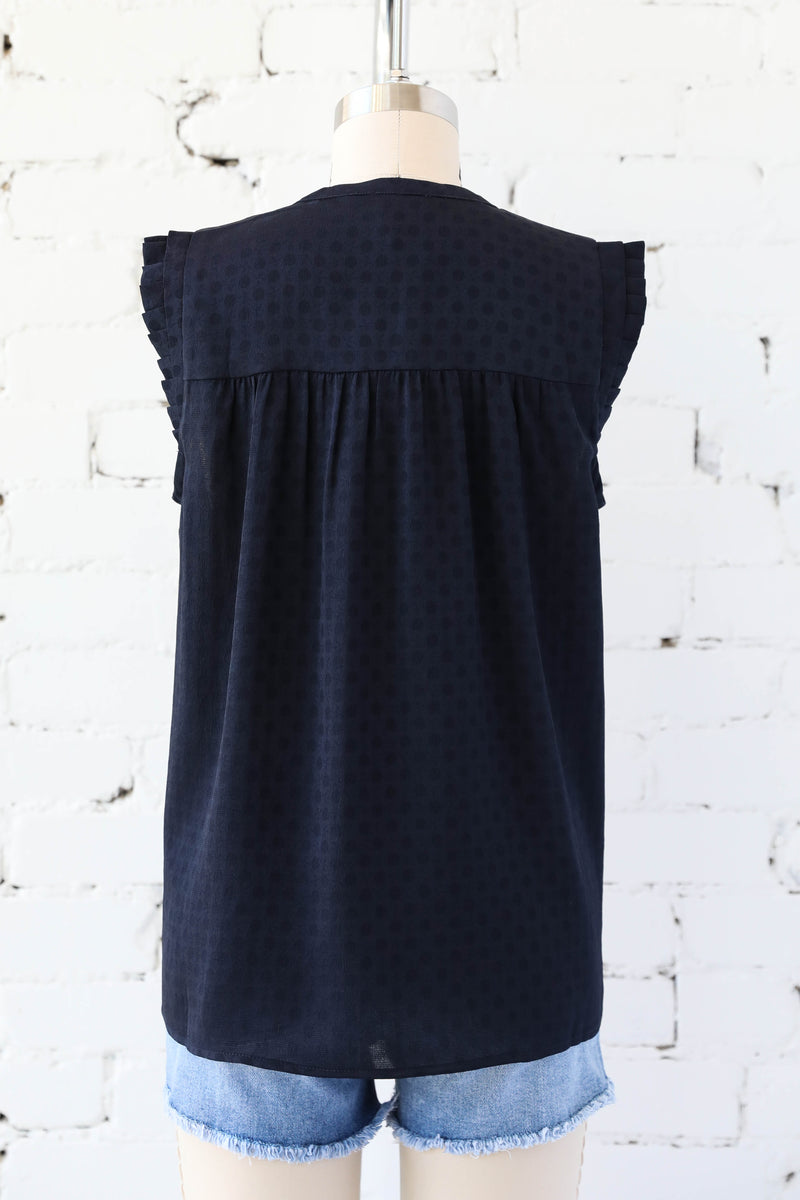 AVERY RAYNE </br>Button Down Sleeveless Top
