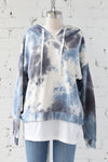 AVERY RAYNE </br>Double Layered Tie Dye Hoodie