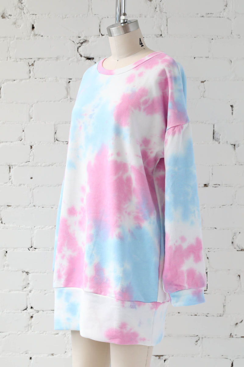 AVERY RAYNE </br>Washed Tie Dye French Terry Dress