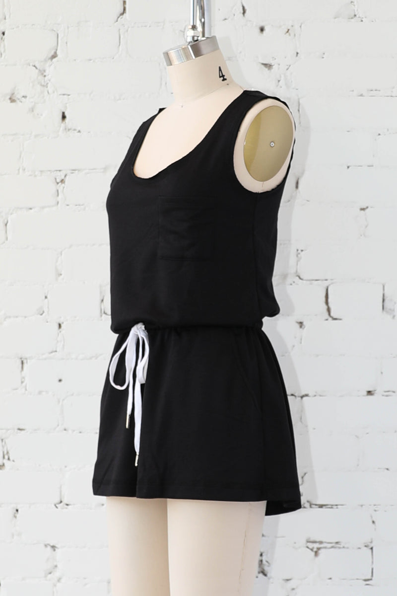 AVERY RAYNE </br>Raw Edge Reverse Detail Romper