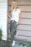 AVERY RAYNE </br>Splatter Paint Cotton Jogger