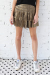 AVERY RAYNE </br>Shimmery Pleated Skirt