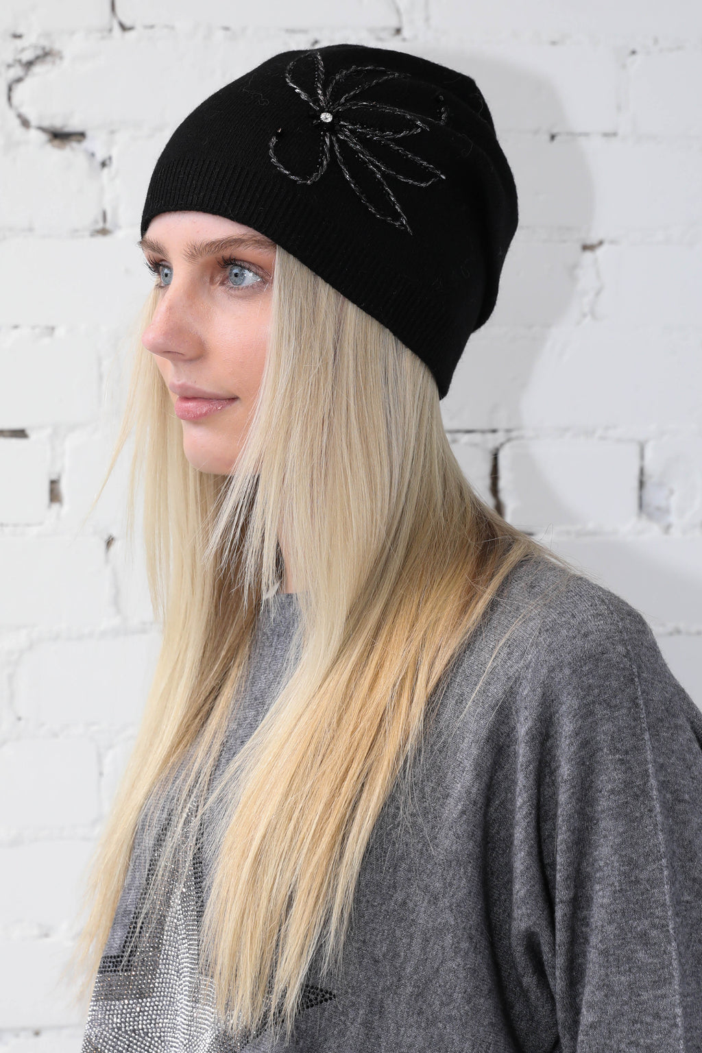 PARPAR </br>Winter Knit Toque With Flower Detail