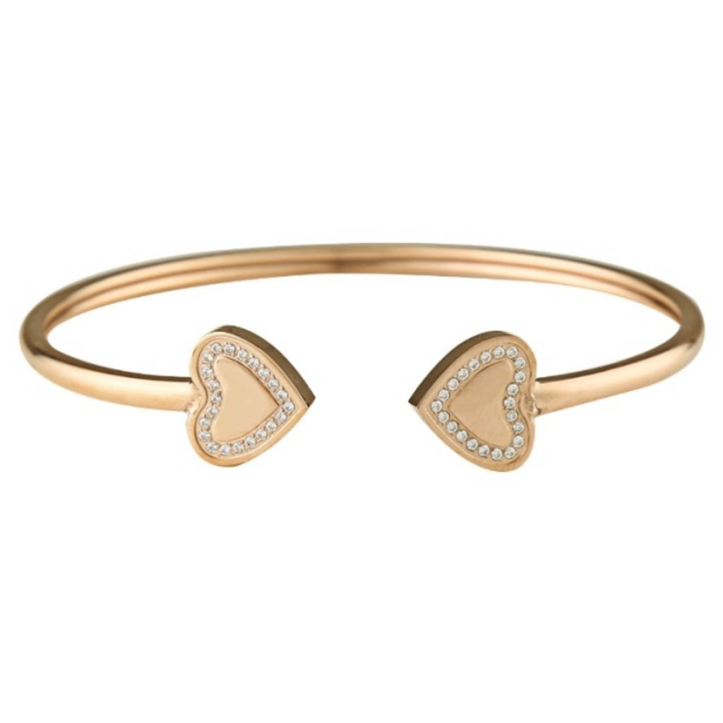 S&C </br>Heart Bangle Gold