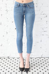 JUST BLACK </br>Ankle Skinny Denim