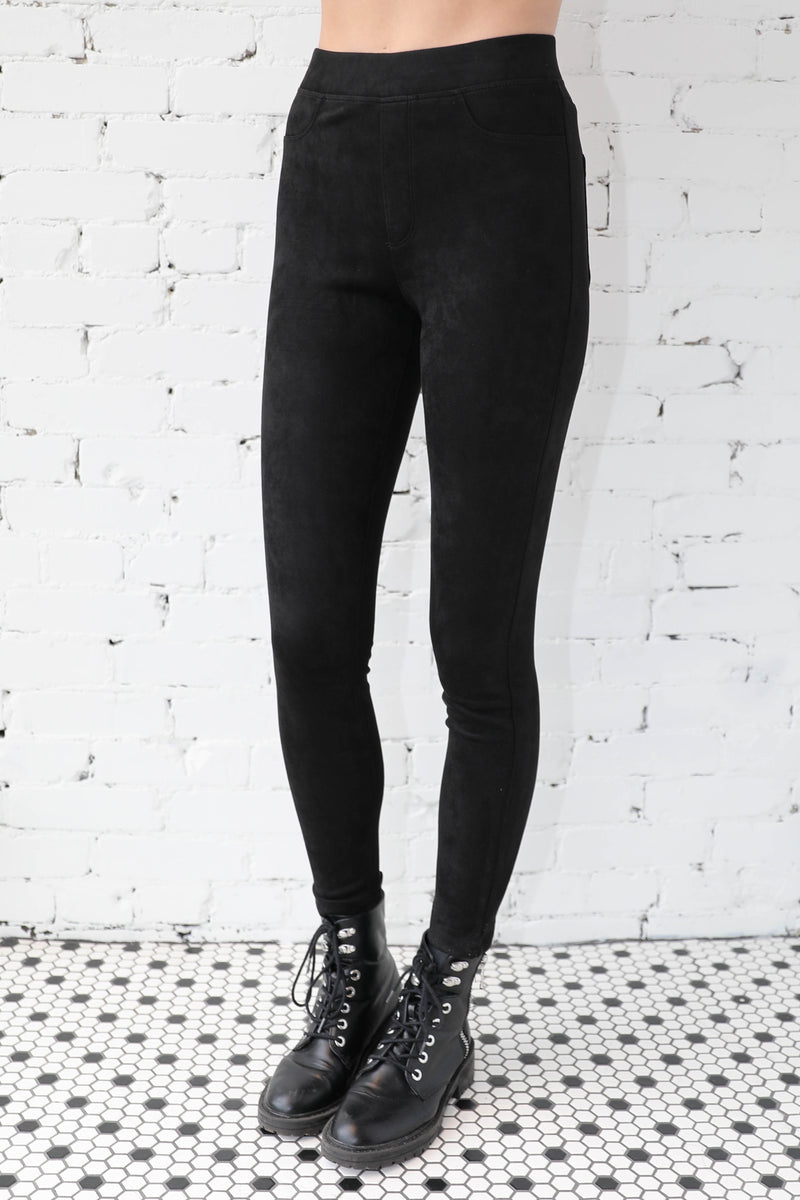 SANCTUARY </br>Faux Suede Runway Legging