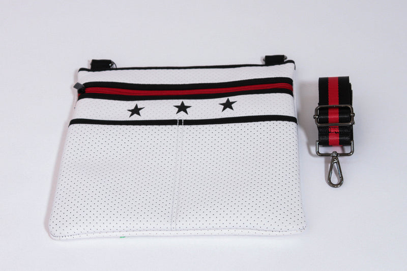 HAUTE SHORE </br>Neoprene Crossbody With Stars