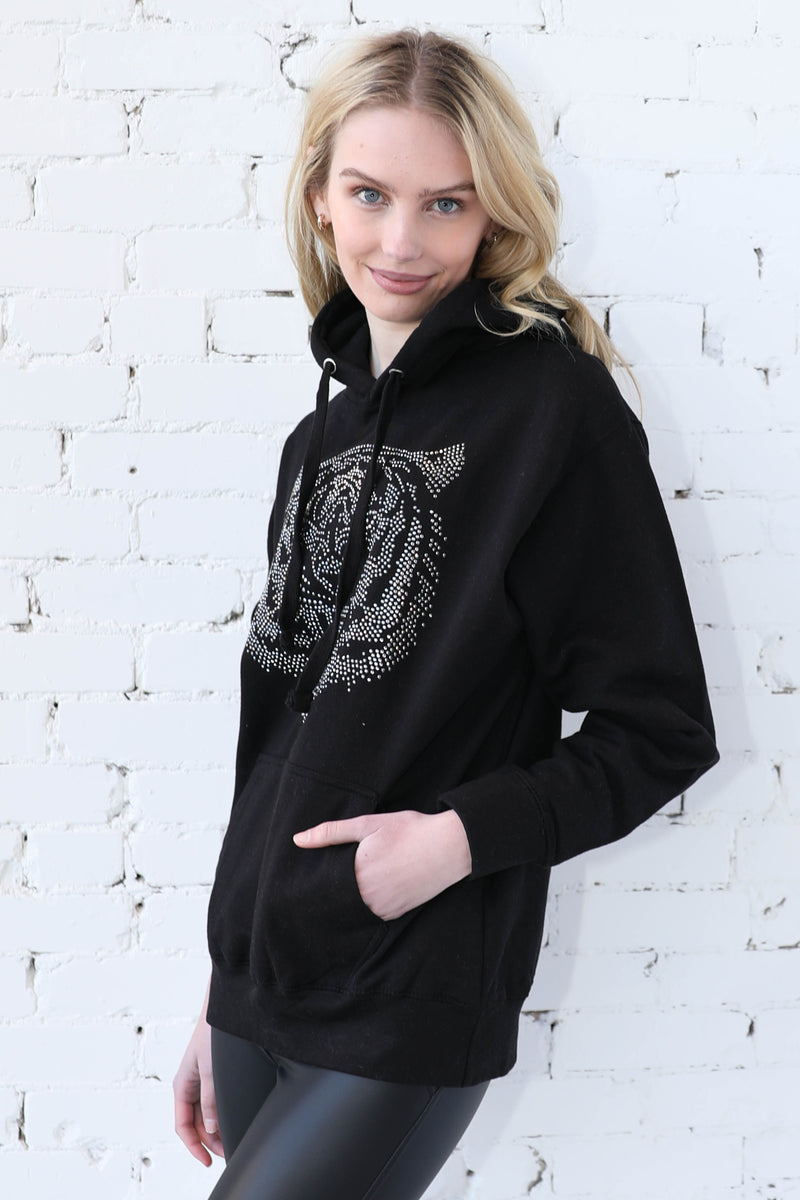 AVERY RAYNE </br>Tiger Studded Hoodie