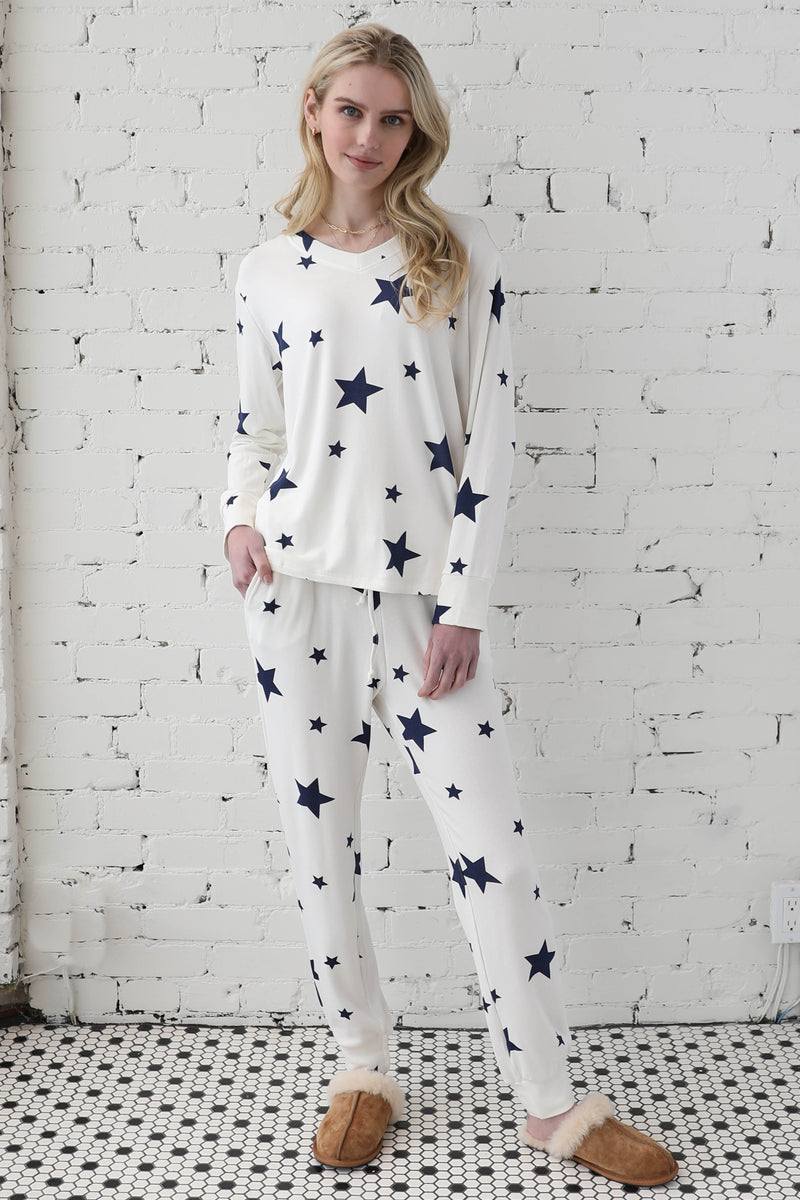 PARPAR</br>Star Print Lounge Set