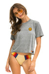 AVIATOR NATION <br>Smiley Embroidery Boyfriend Tee