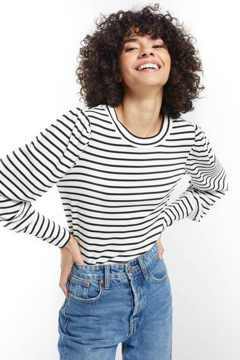 Z SUPPLY </br>Clemente Striped Puff Sleeve