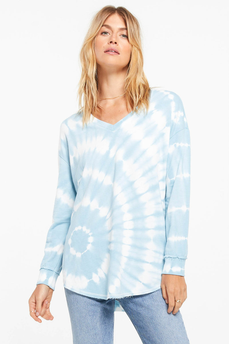 Z SUPPLY </br>V-Neck Spiral Tie Dye Weekender