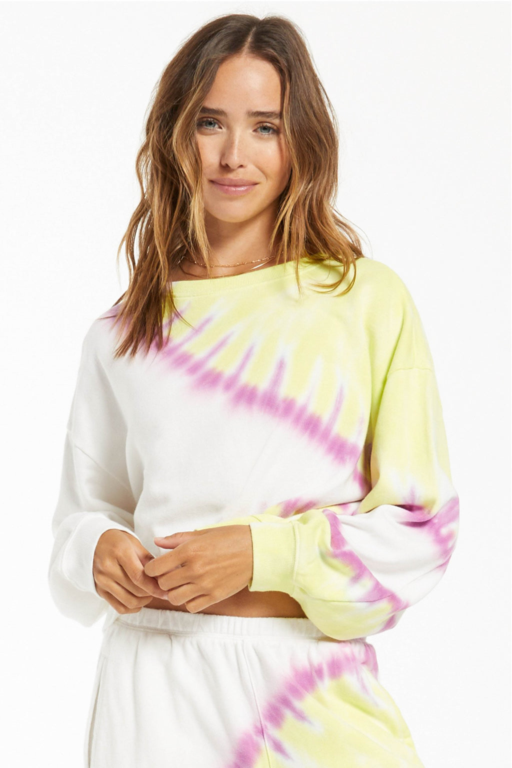 Z SUPPLY </br>Sunburst Tie Dye Sweatshirt