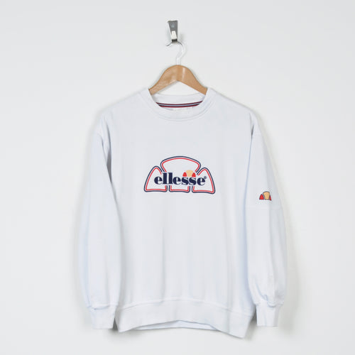 Vintage Ellesse Sweater White Small