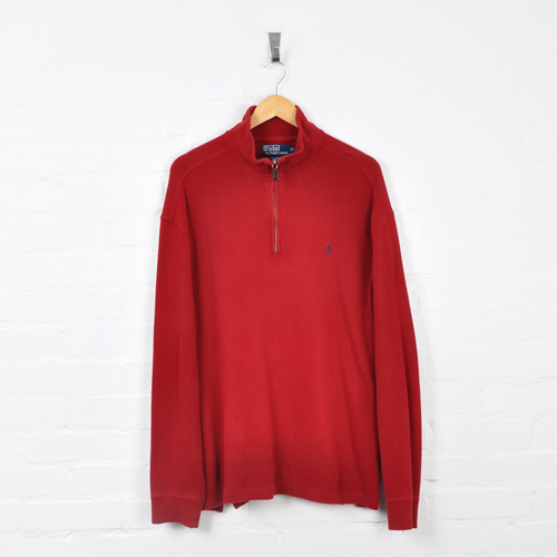 Polo Ralph Lauren 1/4 Zip Sweater Red XL