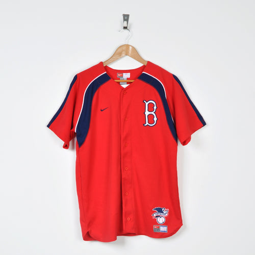 Vintage Nike Brooklyn Dodgers Jersey Red XS