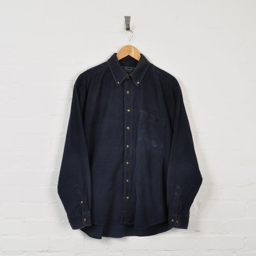 Corduroy Overshirt Navy Small