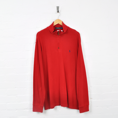Polo Ralph Lauren 1/4 Zip Sweater Red XXL