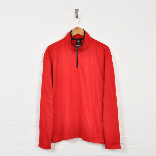 Starter 1/4 Zip Sweater Red XL