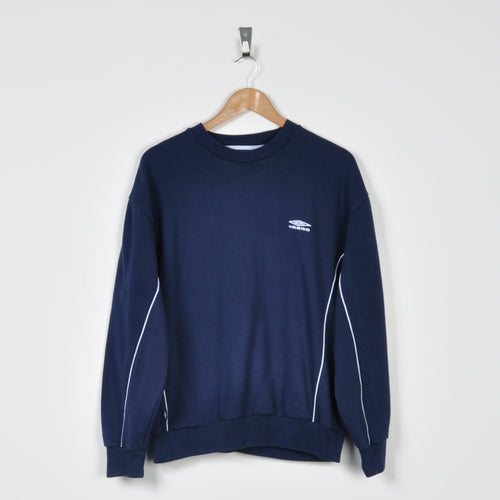 Vintage Umbro Sweater Navy Small