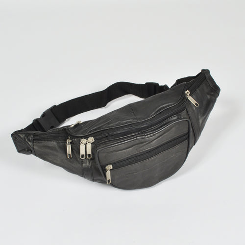 Leather Bumbag Black