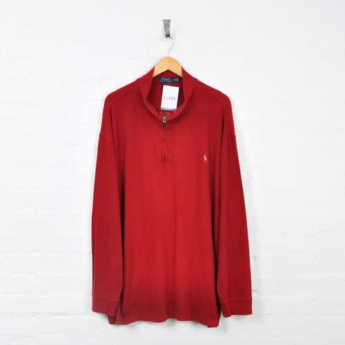 Polo Ralph Lauren 1/4 Zip Sweater Red 3XL