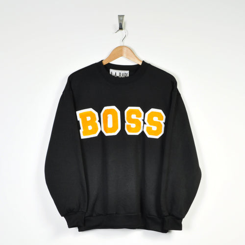 Vintage Boss Sweater Black Small