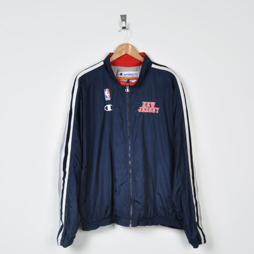 Vintage Champion New Jersey Nets Jacket Navy XL