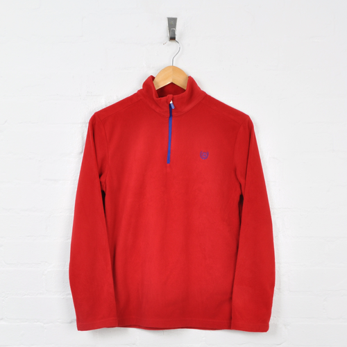 Chaps Ralph Lauren 1/4 Zip Fleece Red Ladies Small