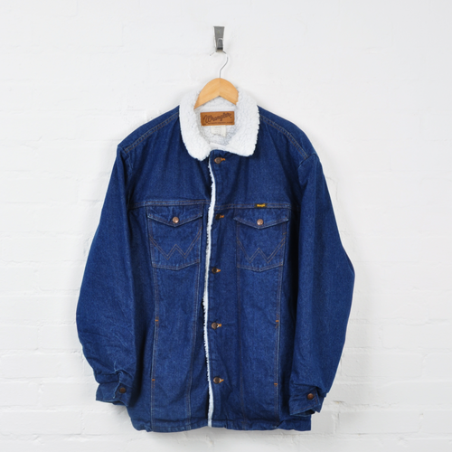 Wrangler Denim Sherpa Jacket Blue XL