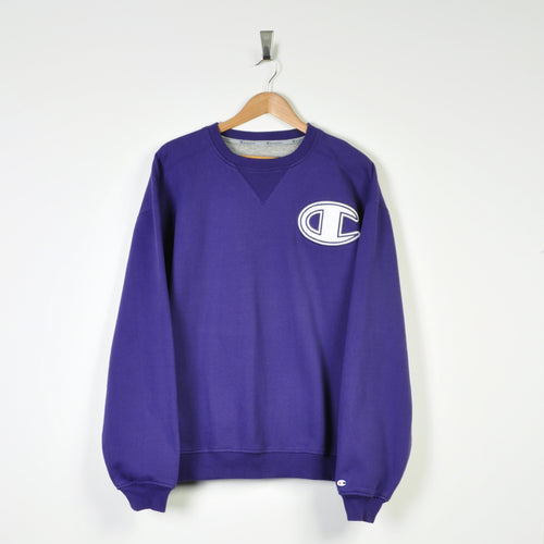 Vintage Champion Sweater Purple XL
