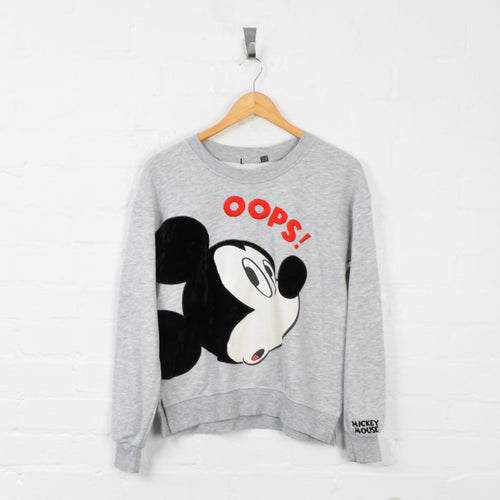 Disney Mickey Mouse Sweater Grey Ladies XS