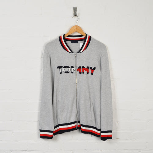 Tommy Hilfiger Zipped Sweater Grey Small