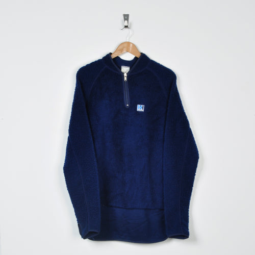 Retro Helly Hansen 1/4 Zip Fleece Navy Medium