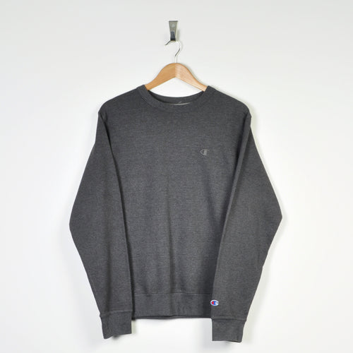 Vintage Champion Sweater Dark Grey Small