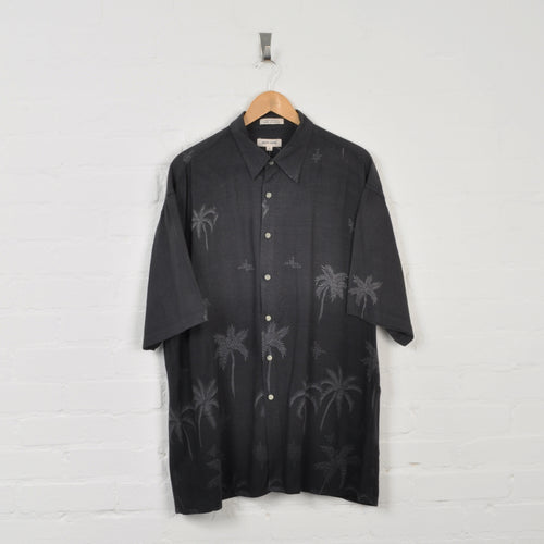 Pierre Cardin Patterned Shirt Black XL