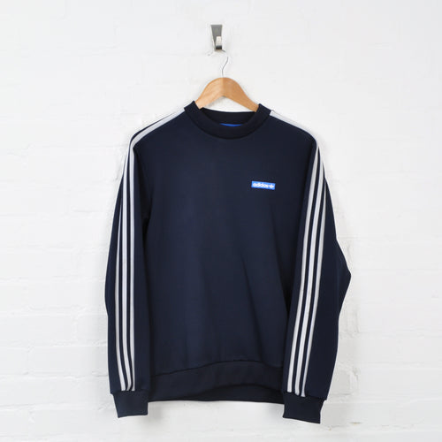 Vintage Adidas Sweater Navy Small