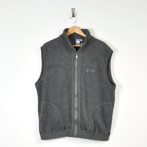 Retro Lotto Fleece Gilet Grey XL