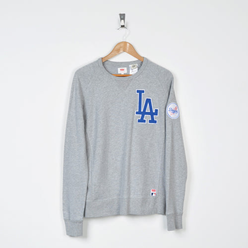 Vintage Levi's LA Dodgers Sweater Grey Small