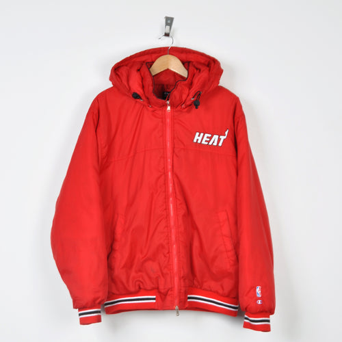 Vintage Champion Miami Heat Jacket Red Large