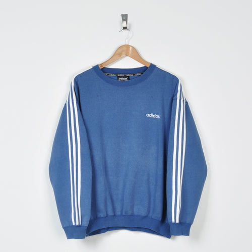 Vintage Adidas Sweater Blue Small