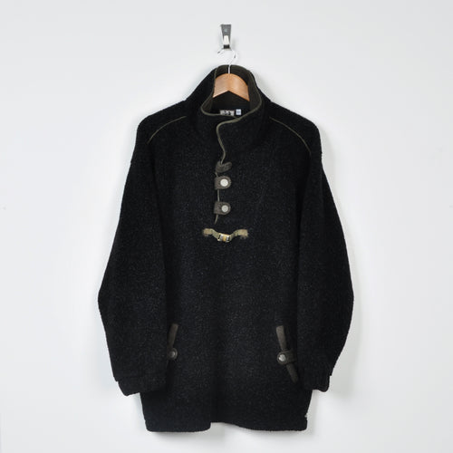 Retro Fleece Black XL