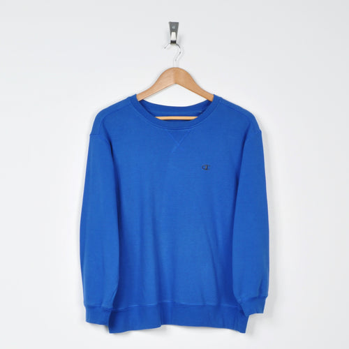 Vintage Champion Sweater Blue Small