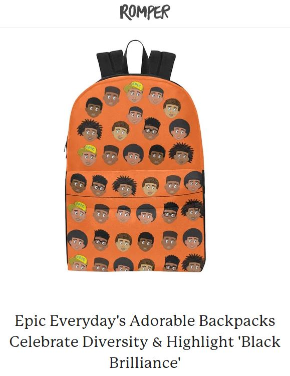 Epic Everyday's Adorable Backpacks Celebrate Diversity & Highlight 'Black Brilliance'